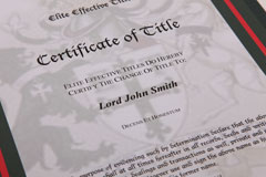 Elite Title certificate detail