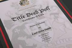 Elite Title certificate close up