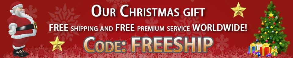 Free premium shipping