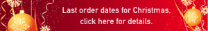 Last dates for Christmas shipping