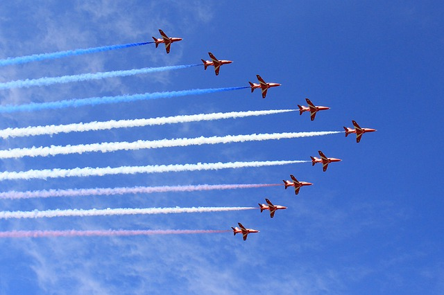 The Red Arrows celebrate VE Day 75