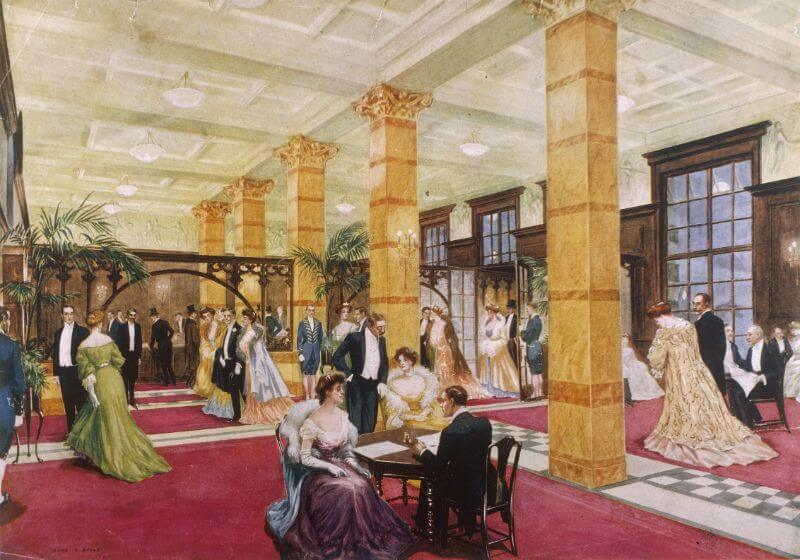 The Savoy Lobby, London in 1905